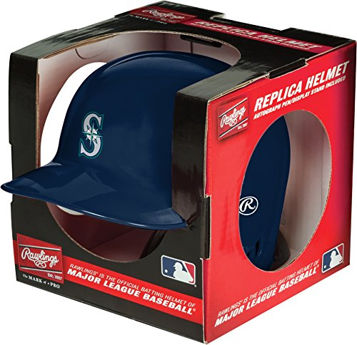 MLB Seattle Mariners Mini Replica Helmet, Blue (Seattle Mariners Autograph)