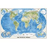 National geographic world political map executive style brown the physical world poster size tubed wall maps world national geographic reference gumiabroncs Images