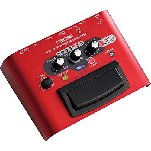 Boss VE-2 Vocal Harmonist & PigHog PP9V PowerPig 9V DC 1000ma Power Supply Bundle