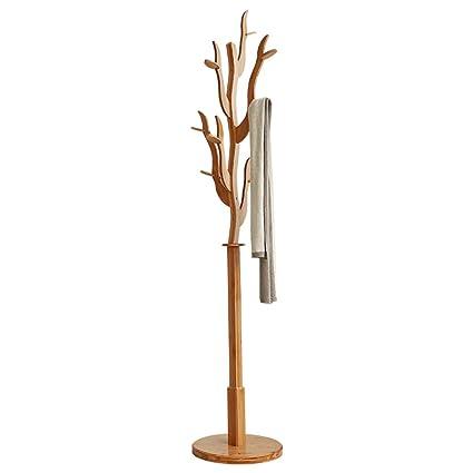 Perchero YNN Forma de árbol Perchas Colgadores De pie Bambú ...