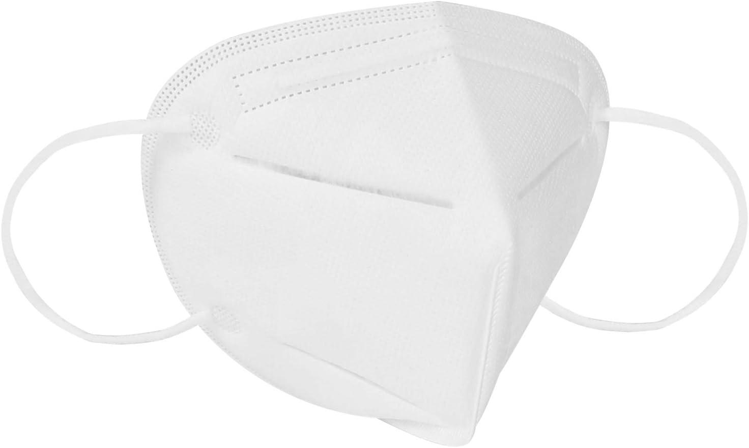 Ggdoo Boca Máscara KN90 4-Capa de la mascarilla del Adulto Anti-Niebla Haze Prueba de Polvo de la máscara a Prueba de Viento PM 2,5 Máscara Anti-partículas al Polvo Blanco