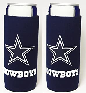 NFL 2013 Football Ultra Slim Beer Can Cooler Holder 2-Pack - Pick Your Team