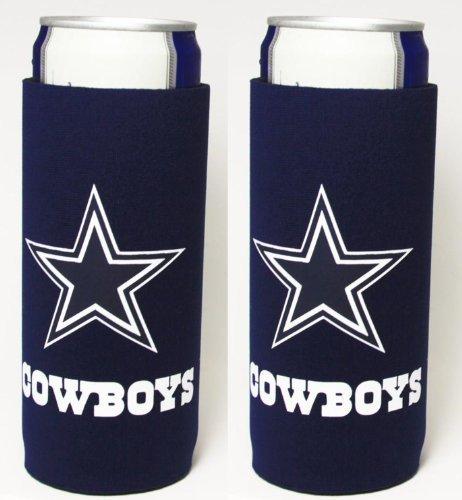 Dallas Cowboys Beer (NFL 2013 Football Ultra Slim Beer Can Holder Koozie 2-Pack - Pick your team (Dallas Cowboys))