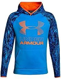 Boys' Armour Fleece Printed Big Logo Hoodie