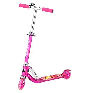 Silla de dos ruedas simple para niños, plegable, alta y baja, monopatín portátil