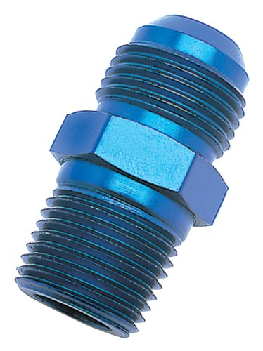 Russell 670150 Blue Anodized Aluminum -6AN Flare to 1/2 Pipe Pressure Adapter