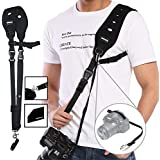 Camera Strap, Prowithlin Camera Neck Strap w/Quick Release Plate and Safety Tether, Camera Shoulder Strap for Photographers, Unisex Camera Strap