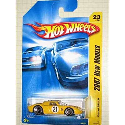 Hot Wheels 2007 New Models -#23 Ferrari 250 LM Yellow #2007-23 Collectible Collector Car Mattel 1:64 Scale: Toys & Games