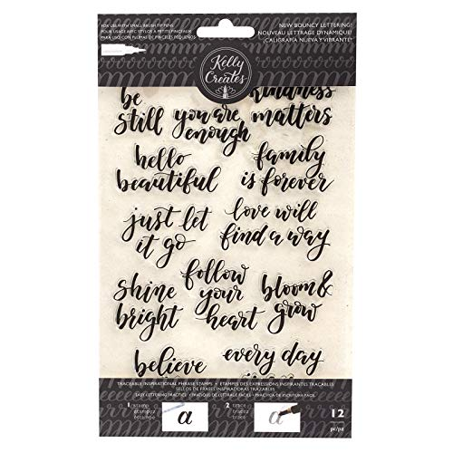 Kelly Creates 351377 Inspirational Phrases Stamps, Multi