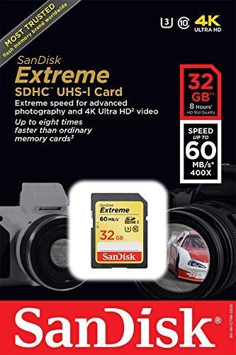 ricondizionato certificato SanDisk Extreme fino a 60 MB//s Scheda di memoria SDHC UHS-I//U3 da 32 GB lettura versione precedente SDSDXN-032G-G46