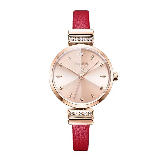 Relojes para Mujer Relojes De Moda Relojes Modernos Y Impermeables Viajeros con Incrustaciones De Diamantes Relojes con Encanto De Compras Rojo Encantador ...