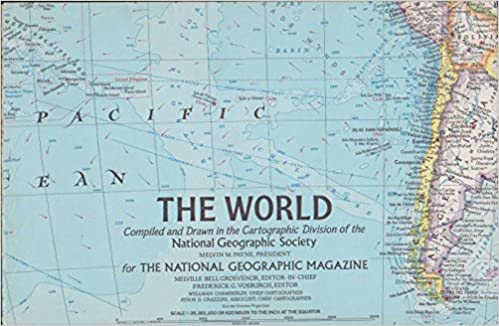 World map the world compiled and drawn in the cartographic world map the world compiled and drawn in the cartographic division of the national geographic society for the national geographic magazine ngs staff gumiabroncs Gallery