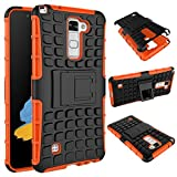 LG G Stylo 2 Case,LG Stylus 2 LS775 Case,[Kickstand]Slim Heavy Duty Shockproof Drop Protection Rugged Armor Dual Layer Hybrid High Impact Resistant Defender Silicone Full-Body Hard Protective Cover