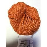 Artisan Yarns Hand Dyed Baby Alpaca Yarn, Solid Spiced Pumpkin, Heavy Worsted Weight, 100 Grams, 102 Yards, 100% Baby Alpaca