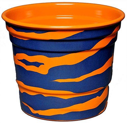 Havercamp Party Ice Bucket, Orange and Blue Auburn Tiger Stripe, Melamine, Houndstooth Party Collection