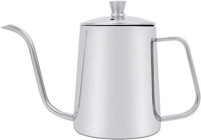 Cafetera de pico largo y estrecho de acero inoxidable de 550 ml ...