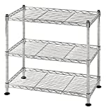 Muscle Rack WS181018-C Steel Adjustable Wire Shelving, 3 Shelves, Chrome, 18'' Height, 18'' width, 264 lb. Load Capacity (Set of 2)