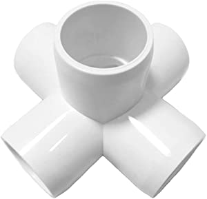 SELLERS360 5Way 1/2 inch Tee PVC Fitting Elbow - Build Heavy Duty PVC Furniture - PVC Elbow Fittings [Pack of 12]