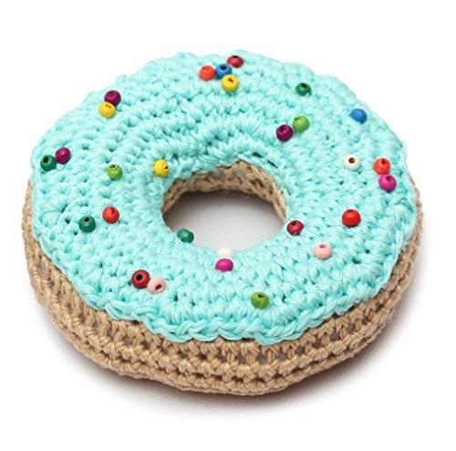 DaoOfThao Mint Donut Handmade Amigurumi Stuffed Toy Knit Crochet Doll VAC