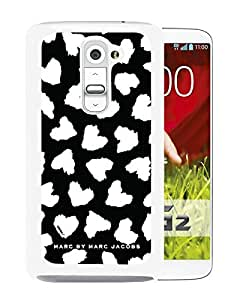 Marc by Marc Jacobs 17 White LG G2 Screen Phone Case Nice and Unique Design