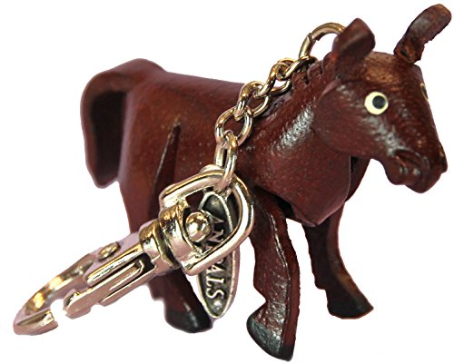 Leather Jacket Zipper Pull Charm - Brown Andalusia Horse - Animal Gifts