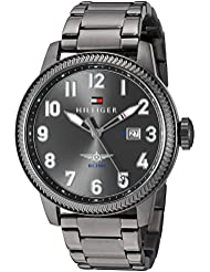 Tommy Hilfiger Mens JASPER Quartz Stainless Steel Casual Watch, Color:Grey (Model: 1791313)