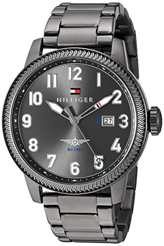 Tommy-Hilfiger-Mens-JASPER-Quartz-Stainless-Steel-Casual-Watch-ColorGrey-Model-1791313