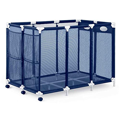 Essentially Yours Pool Storage Bin Organizer - Holds Pool Floats, Toys, Balls and Equipment, Extra-Extra-Large, Blue