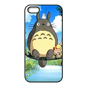Bloomingbluerose Totoro Para Hacer En Gorro Cases for IPhone 5,5S, with Black
