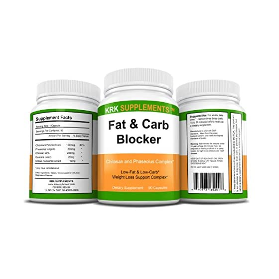 2 Bottles Fat and Carb Blocker with Phaseolus Vulgaris (White Kidney Bean Extract) Chitosan Extreme Diet Pills Weight…