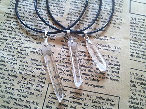 Natural Stone Pendant Quartz White Crystal Pendulum Crystal Column Punch Pendants Chakra E Healing Suspension