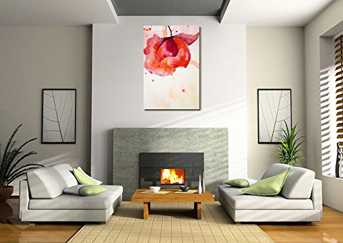 Spring Peony in Red Watercolor King of Flowers Home Deoration Wall Decor ing