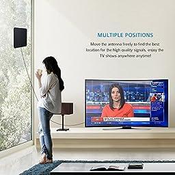 HDTV Antenna, Antenna Amplifier,Hdtv Antenna indoor Digital Long Range TV HD Antenna (15-55 Miles)
