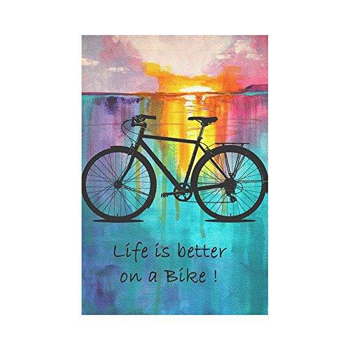 InterestPrint Bike Ride Quote Polyester Garden Flag House Ba