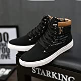 Hot Male Fashion Spring Autumn Men Casual High Top Shoes Canvas Sneakers Leather Shoes