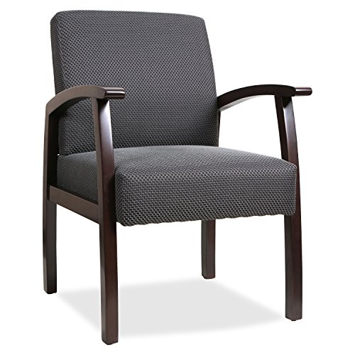 Lorell Guest Chairs, 24 by 25 by 35-1/2-Inch, Espresso/Charcoal (Reception Office Furniture Sets)