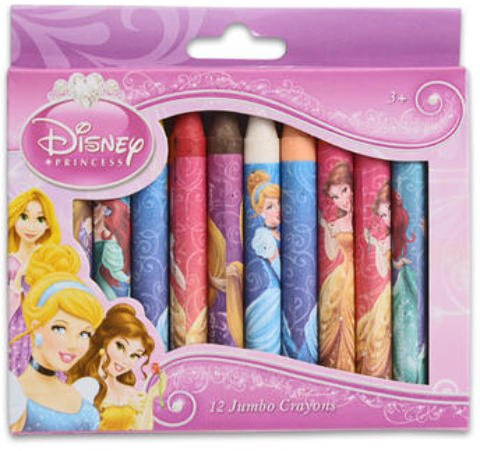 Princess Jumbo Crayons, 12 Countt 48 pcs sku# 916981MA by DDI