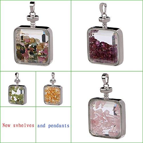 TGS Gems® Charm Rose Quartz Reiki Healing Crystal Chip Dangling Pendant
