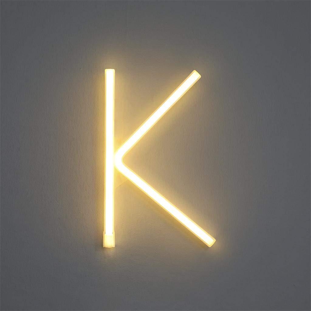 Wokee_ LED Marquesina Letra Luces Alfabeto Iluminar Cartel ...