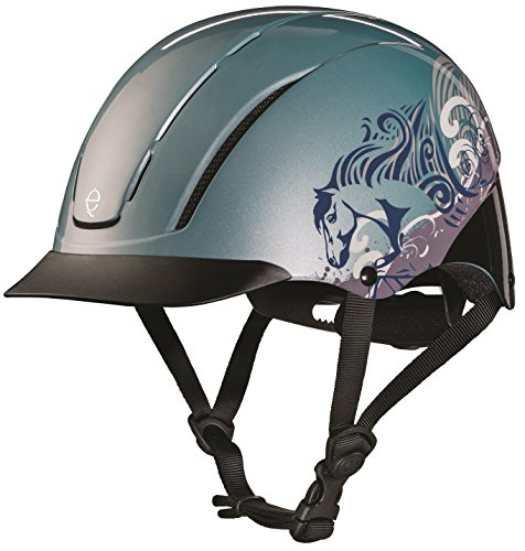 TROXEL SPIRIT 2017 Design ♦ #1 Equestrian Riding Helmet ♦ ASTM/SEI Certification Colors (Sky Dreamscape 2017, Small) (Troxel Helmet Schooling Spirit)