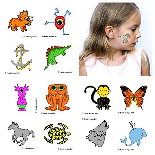 Goddess Angel Earrings (Temporary Tattoos For Kids (24 Individually Wrapped Sheets) - Best For Birthday Party Gift Bags, Party Favors And Kids Party Games - For Boys And Girls)