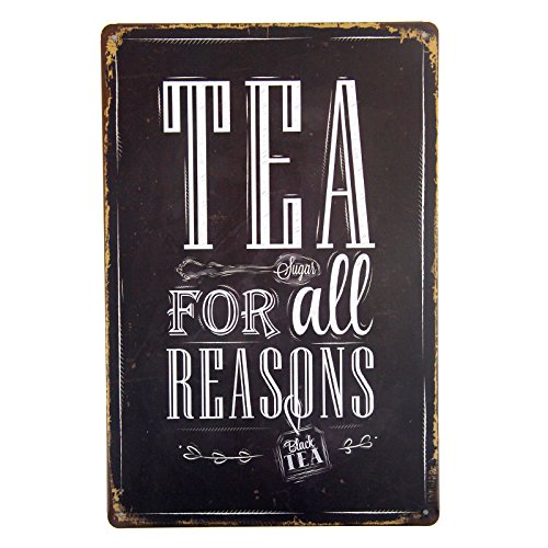 DL-Tea For All Reasons Metal Tin Sign Decor Bar Pub Home Retro Poster Cafe Art - Sign Pub Bar Decor
