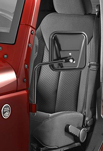 Jeep Safari Mirrors Doors Off Square in Black for CJ YJ TJ JK Wrangler