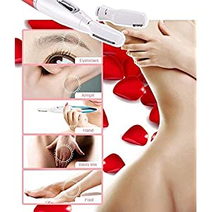 Micro Precision Electric Eyebrow Trimmer Bikini Face Hair Remover Dry Wet Shaver