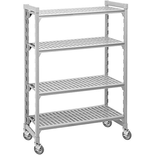 Cambro Mobile Shelving, 4 Vented Shelves, 24