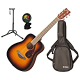 Yamaha JR2 TBS 3/4 Scale MINI Folk Guitar (Tobacco Sunburst) w/Gig Bag, Stand, and Tuner