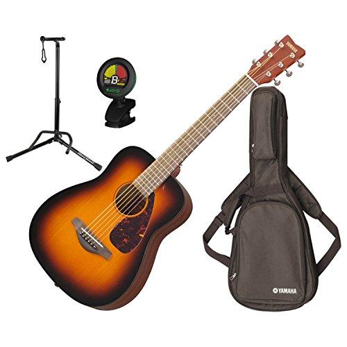Yamaha JR2 TBS 3/4 Scale MINI Folk Guitar (Tobacco Sunburst) w/Gig Bag, Stand, and Tuner Acoustic Guitar Tobacco Brown Sunburst