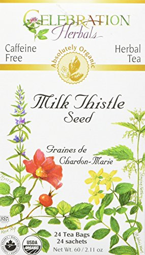 (Celebration Herbals Organic Milk Thistle Seed Herbal Tea -- 24 Tea Bags, NET WT.60, 2.11 OZ )