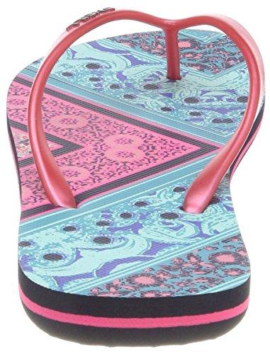 ONeill FW Summer Print Flip Flops, Chanclas Para Mujer Grün (6940 Green Aop W/ Pink-purple)