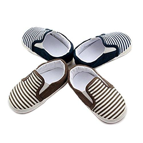 White Stripe Infant Shoe - 5